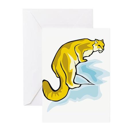 Cougar/Panther Greeting Cards (Pk of 10)