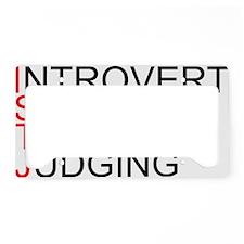 ISTJ.gif License Plate Holder