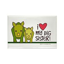 Big Sister Rhino Rectangle Magnet