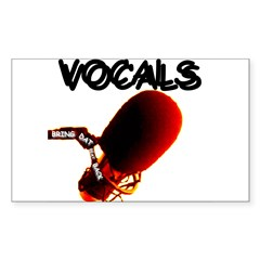 VOCALS Rectangle Decal