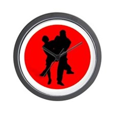 Red Moon Dancers Wall Clock