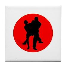 Red Moon Dancers Tile Coaster