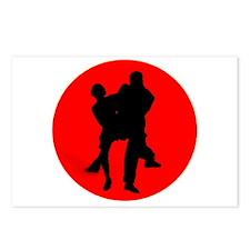Red Moon Dancers Postcards (Package of 8)