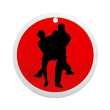 Red Moon Dancers Ornament (Round)
