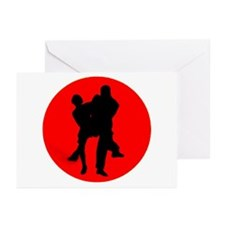 Red Moon Dancers Greeting Cards (Pk of 10)