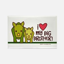 Big Brother Rhino Rectangle Magnet