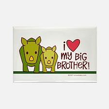 Big Brother Rhino Rectangle Magnet