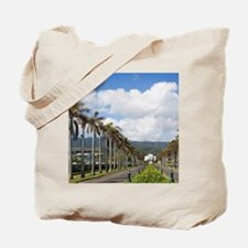 Brigham Young Morman Temple, Laie, Oahu,  Tote Bag