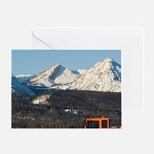 Groomer on the Cross country ski cou Greeting Card