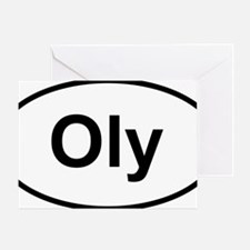 Oly Oval logo Greeting Card