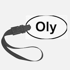 Oly Oval logo Luggage Tag