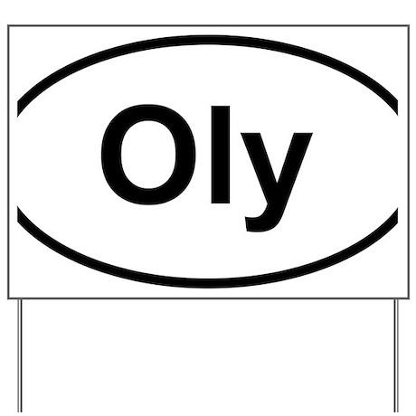 Oly Oval logo Yard Sign