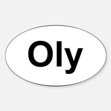 Oly Oval logo Sticker (Oval)