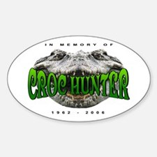 Croc Hunter Oval Decal