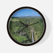 Akaka Falls, Hamakua Coast, Island of H Wall Clock