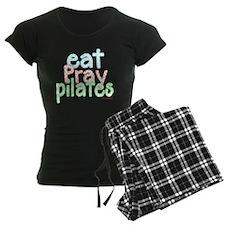eat pray pilates white copy Pajamas