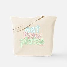 eat pray pilates white copy Tote Bag