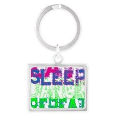 eat sleep dance repeat for blac Landscape Keychain