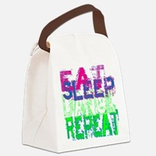 eat sleep dance repeat for black  Canvas Lunch Bag