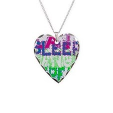 eat sleep dance repeat for bl Necklace