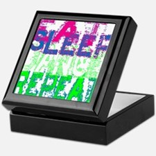 eat sleep dance repeat for black copy Keepsake Box