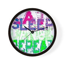 eat sleep dance repeat for black copy Wall Clock