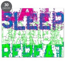 eat sleep dance repeat for black copy Puzzle