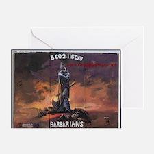 BarbarianBase_UnitPainting Greeting Card