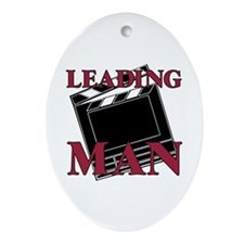Leading Man Actor Drama Thespian Oval Ornament