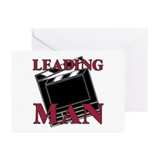 Leading Man Actor Drama Thespian Greeting Cards (P