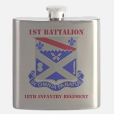 1-18TH INFANTRY RGT WITH TEXT Flask