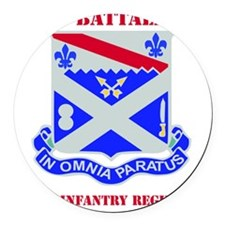 1-18TH INFANTRY RGT WITH TEXT Round Car Magnet