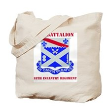 1-18TH INFANTRY RGT WITH TEXT Tote Bag