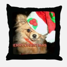 CHIHUAHUA XMAS12X16 Throw Pillow