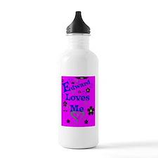 Edward Loves Me443_iph Water Bottle
