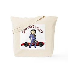 Light Race Car Driver Tote Bag