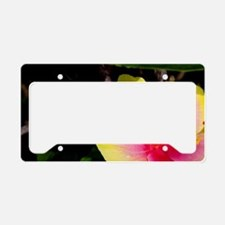 Yellow and red hibiscus, Kaua License Plate Holder