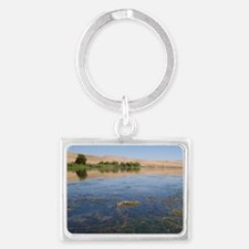 Fish kill on the Snake River in Landscape Keychain