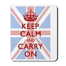 Keep Calm And Carry On (Light Union Jack Mousepad