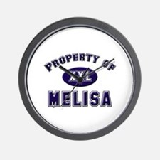 Property of melisa Wall Clock