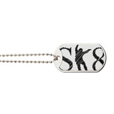 sk8_patinador_3_light Dog Tags