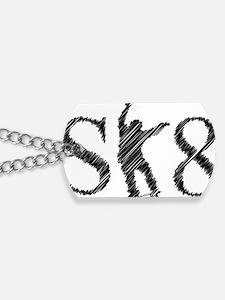 sk8_patinador_3_light Dog Tags