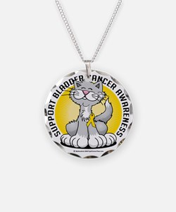 Paws-for--Bladder-Cancer-Cat Necklace Circle Charm