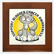 Paws-for--Bladder-Cancer-Cat Framed Tile