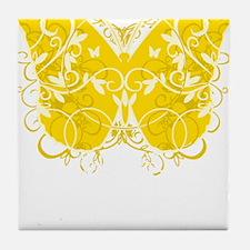 Bladder-Cancer-Butterfly-blk Tile Coaster