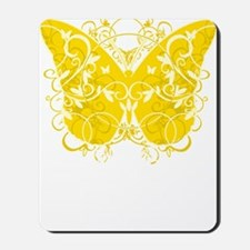 Bladder-Cancer-Butterfly-blk Mousepad