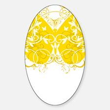Bladder-Cancer-Butterfly-blk Sticker (Oval)