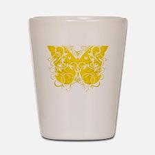 Bladder-Cancer-Butterfly-blk Shot Glass