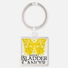 Bladder-Cancer-Butterfly Square Keychain