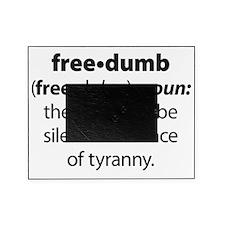 Freedumb 5 Black Circle Picture Frame
